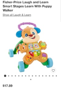 Learn and walk Fisher price pup