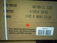 MRE  12 Meals Ready to Eat Case B meals 13-24 Pack Alexandria, 22309