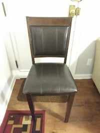 Wooden & Leather Chair Detroit
