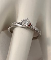 14k white gold diamond engagement ring *Compare at $2,600 Vaughan, L4J 0H6
