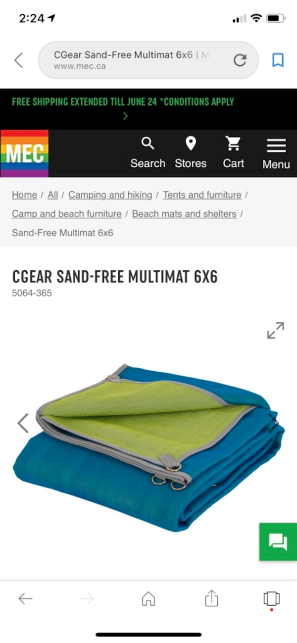 Cgear sand free multimat 8ft by 8ft  cad370e2-d8b0-4804-86d6-2334fa0e800a