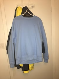 gray Champion crew-neck sweatshirt
