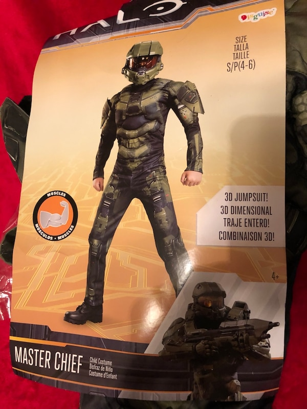 Halo master chief small child (4-6) costume