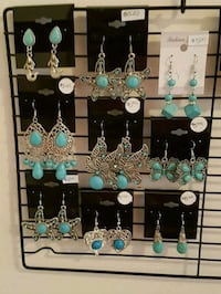 For each pair $5.00 Silver & Turquoise  Bradford West Gwillimbury, L3Z 2A5