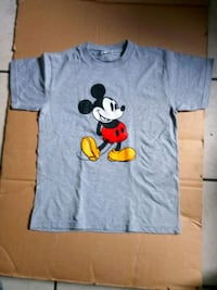 blue and white Mickey Mouse-printed crew-neck t-shirt Anaheim, 92804