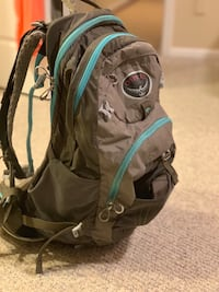 OSPREY MIRA AG BACK PACK. Has a reservoir for 2.5 liters hydration. Retails for $165   Potomac, 20854
