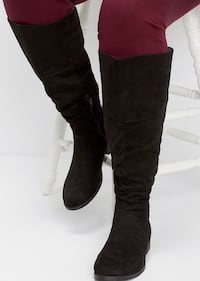 Suede boots 7 1/2 wide calf  San Marcos, 78666