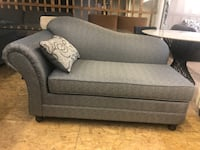BRAND NEW NEVER USED CANADIAN MADE GREY CHAISE WITH FREE PILLOW Toronto