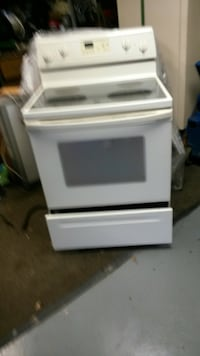 white and black induction range oven Washington