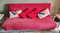 Red ikea futon in a mint condition
