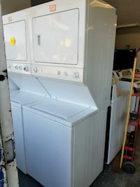 two white stackable washing machine & dryers Gainesville