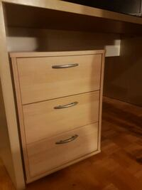 Large working desk with storage unit Sainte-Marthe-sur-le-Lac
