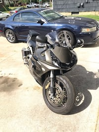 black and gray sports bike null