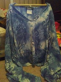 blue and white floral long-sleeved shirt Edmonton, T6A 2E4