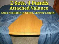 2 Sets Blue Curtains with Attached Valance  Buffalo, 14217