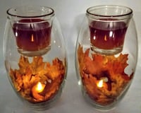 LIGHTED~FALL~CANDLE~ CENTERPIECE~ YOUR CHOICE ! Dover, 44622