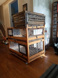 2.5 storey bunny cage null