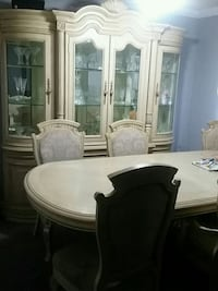 round white wooden table with four chairs dining s Toronto, M1J 3C8