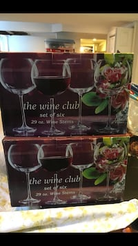 The wine club 29 ounce glasses French Crystal Watertown, 02472