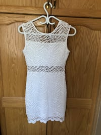 White Guess lace dress Toronto