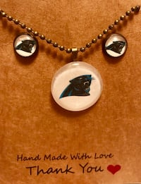 Carolina Panthers necklace & earrings 104 mi