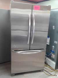 silver french-door refrigerator null
