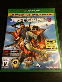 Xbox 360 Just Cause 3 game case New Westminster, V3L 5S6