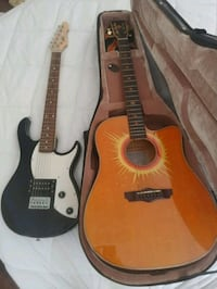 Peavey electric guitar and Esteban acoustic electric with hard case.  Venice, 34293