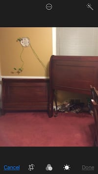 Cherry sleigh bed set in good condition Washington, 20017