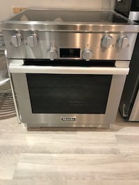 gray and black Arcelik oven null