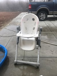 White and gray high chair Selma, 93662