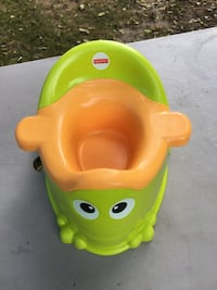 Baby's green and yellow FIsher Price potty trainer Summit, 53066