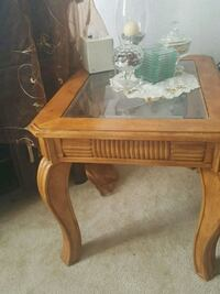 brown wooden framed glass top coffee table Tustin, 92780