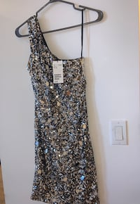 H&M long sequin dress