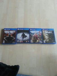 four PS4 games