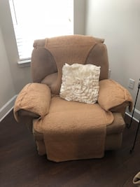 brown fabric sofa chair with ottoman Gaithersburg, 20878