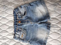 Von Zara Wash-Blue Denim kurze Shorts