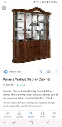 display cabinet made in Italy  Vaughan, L4K 5Z8