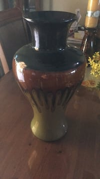 black and white ceramic vase Indio, 92201