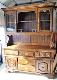 2-pc. Wood China Cabinet - FREE DELIVERY!! (Please, read details below) Chantilly