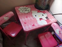 Hello Kitty Table w/ 2 chairs