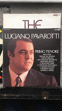 Pavarotti and Caruso, opera vinyl records