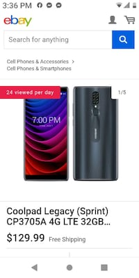 Coolpad from boost Mobile.