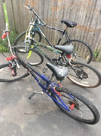 blue and black full-suspension mountain bike West Hartford