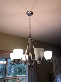black and white uplight chandelier BOWIE