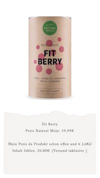 Natural Mojo Fit Berry 6799 km