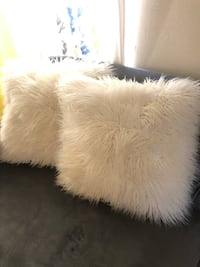 White faux fur decorative Pillows  Arlington, 22204