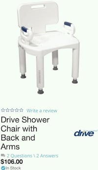 Brand New never used Drive Shower and tub chair Rockville, 20853