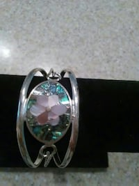 ALPACA Abalone and mother of pearl cuff bracelet
