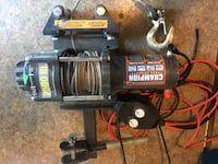 Black and gray winch